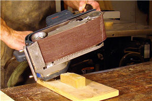 Practice using your belt sander