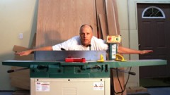 This is an image of grizzly jointer bigger than a man