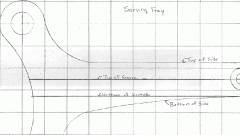 Chart for making a wooden serving tray