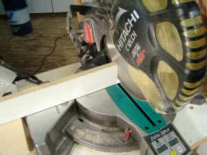 Making a line-of-cut with a miter saw