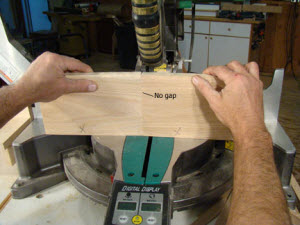 Ideal cut with a miter saw