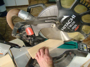 Cuts with a miter saw