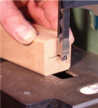 Setting the depth on a mortiser