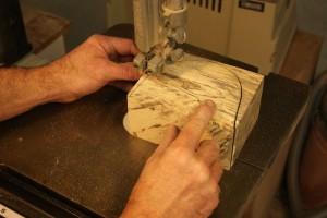 Bandsaw-box Cut to Shape