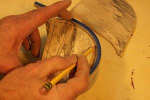 Bandsaw Box draw inside shape
