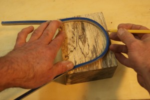 Bandsaw box draw shape