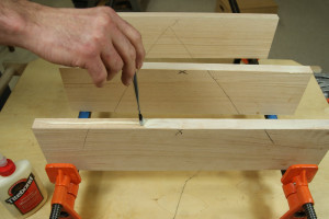 Gluing Up Panels - Apply Glue