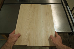 Gluing Up Panels - Checking the Joint