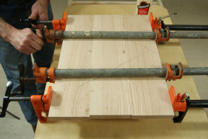 Gluing Up Panels - Clamping the Panel