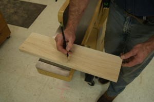 Gluing up Panels - Mark Jointed Edge