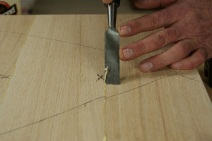 Gluing Up Panels - Slicing Off Excess Glue