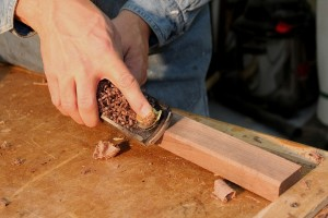 How to use a hand plane - block plane chamfer