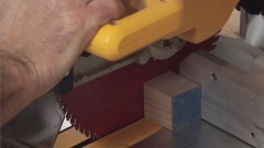 Get some miter saw safety tips by watching this free woodworking video.