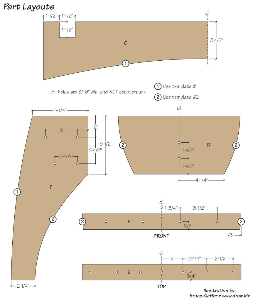 Outdoor Bench Plans Step 4 Part Layouts