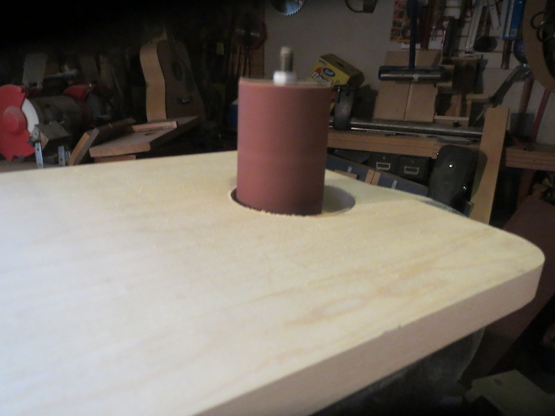 Wooden Camping Chair - Smooth curve with drum sander