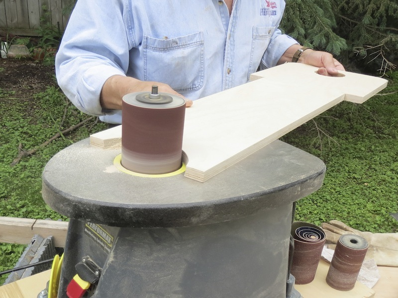 Wooden Camping Chair - Smooth large curve with a drum sander