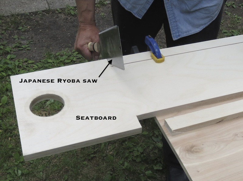 Trim board to size with japanese handsaw