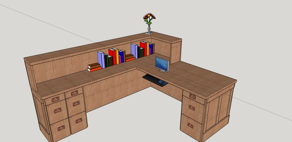 SketchUp Guide for Woodworkers - Desk 6