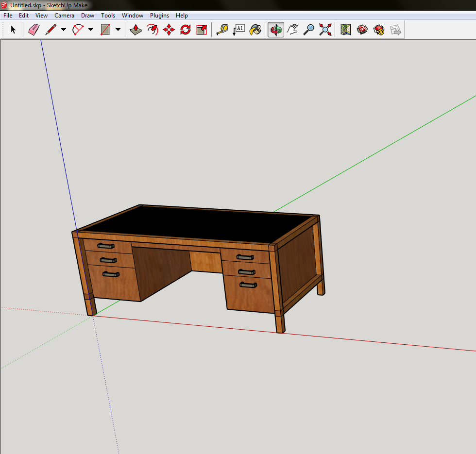 SketchUp Guide for Woodworkers - Desk