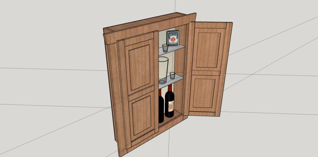SketchUp Guide for Woodworkers - Cabinet