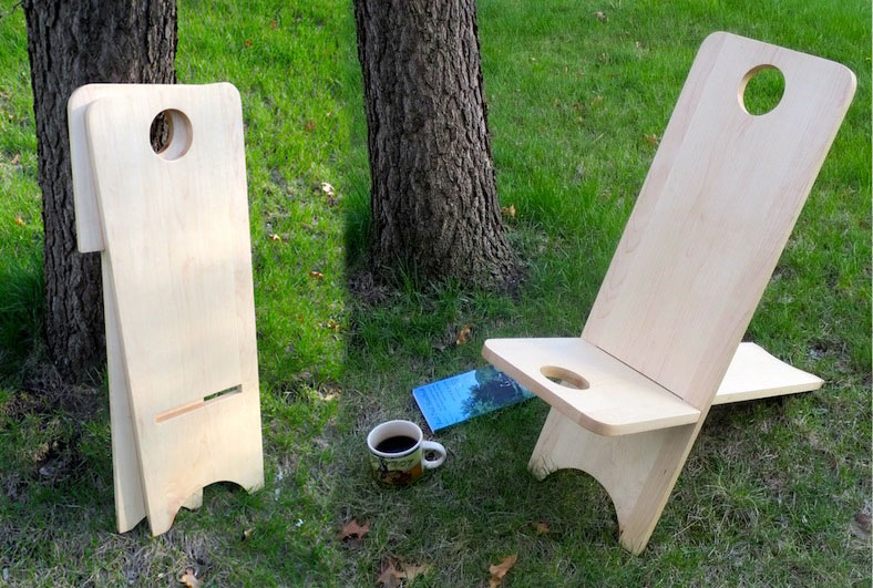 Carry along Wooden Camping Chair