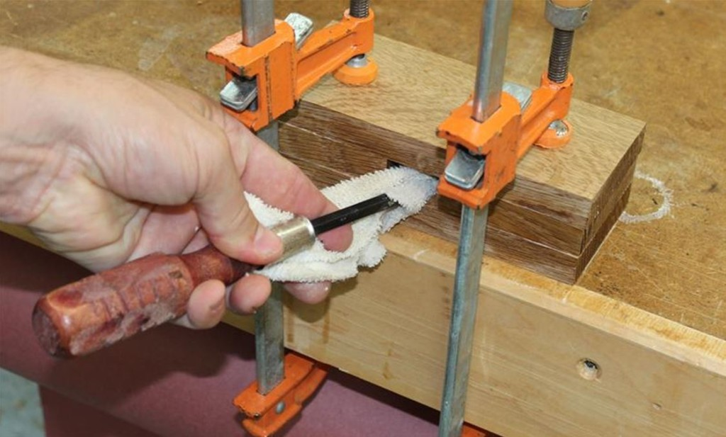 glue up the mallet head